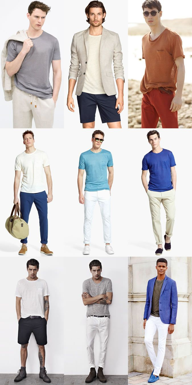 White t shirt fashion tips - Men S Linen T Shirts Outfit Inspiration Lookbook