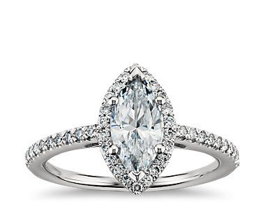 Marquise halo ring. I could make mine a halo!