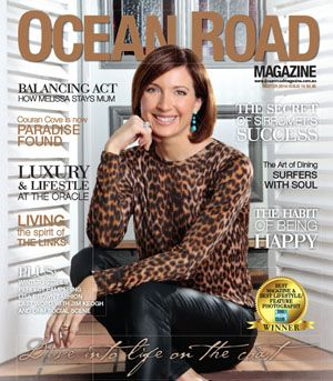 Big thank you to Melissa Downes from the Channel 9 News Team for letting Ocean Road Magazine into her home for the cover story for our Winter 2014 Edition.