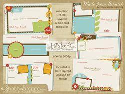 digital recipe book template