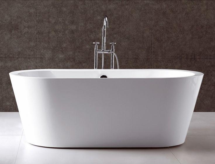 Serenity 70 White Free Standing Soaking Bathtub With