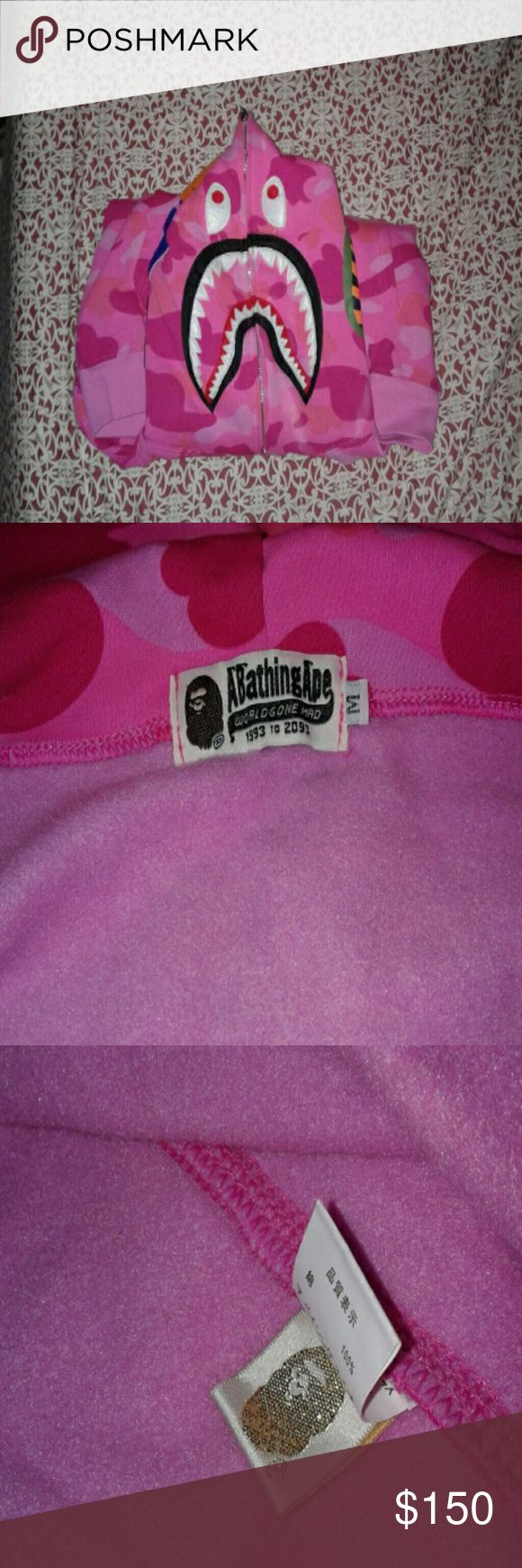 A Bathing Ape hoodie Bathing Ape Pink camo Bape  Jackets & Coats