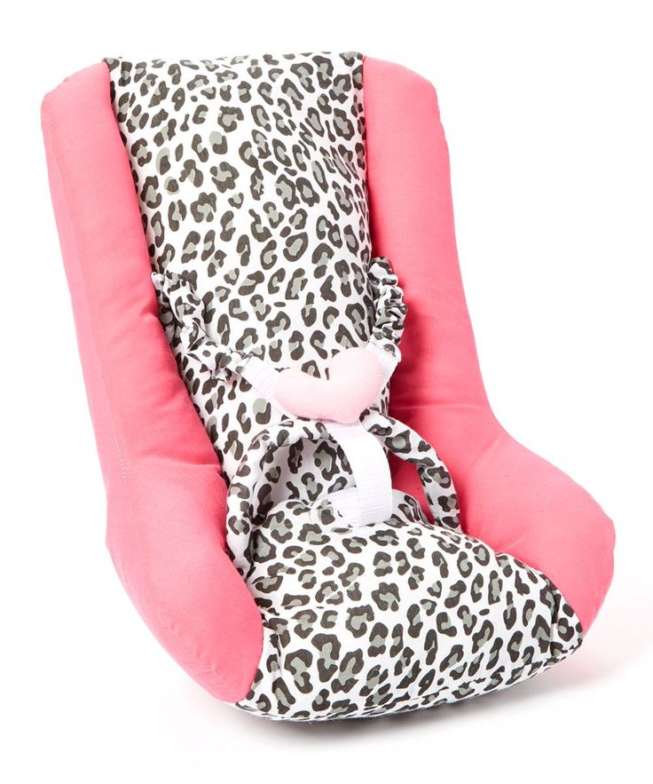 Pink Cheetah Car Seat for 18'' Doll