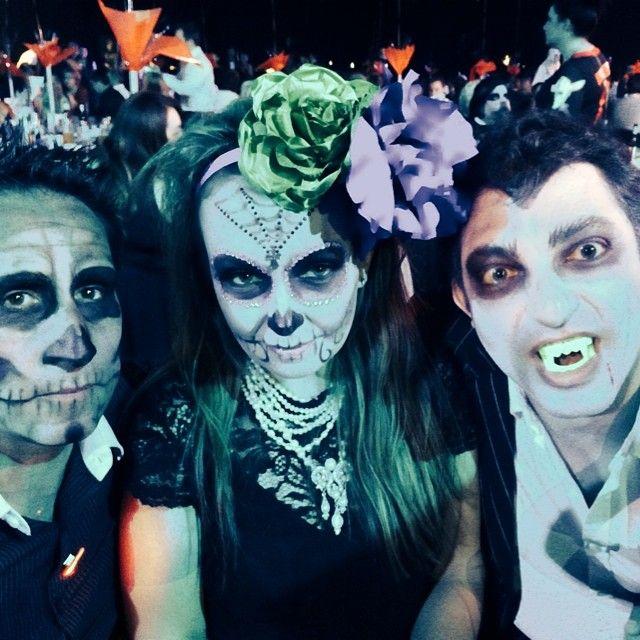 creative makeup -sugar skull, skeleton & Dracula for Halloween fancy dress by by Aleksandra Pinneri of www.unveilthebeauty.com.au