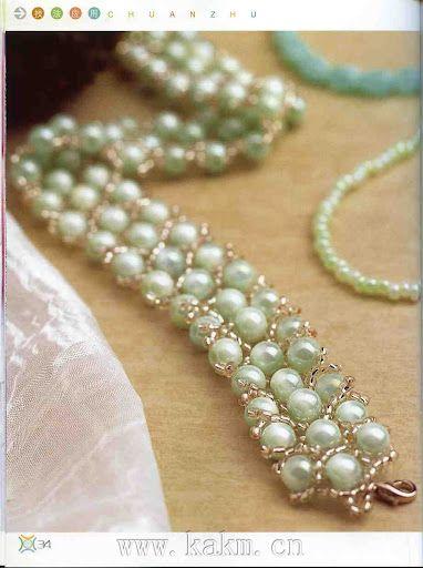 pearl bracelet tutorial - 1
