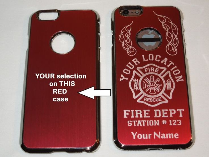 Fire Department Christmas Gifts Part - 23: PERSONALIZED Cell Phone Case Fits: Apple IPHONE 6, FIREFIGHTER, FIREMAN. Fire  DepartmentFirefightersChristmas Gifts