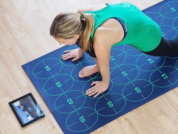 This yoga mat for beginners, discovered by The Grommet, makes it easy to perfect yoga positions by having easy to follow numbered guides right on the mat.