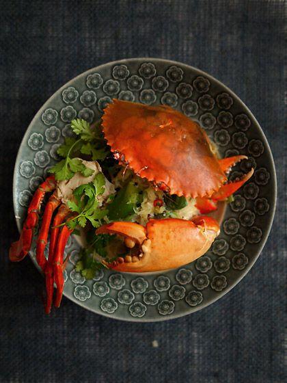 青蟹の焼きビーフン(Rice vermicelli)