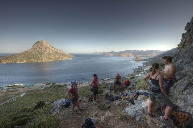 12.Rock climbing on the island of Kalymnos is some of the best there is.