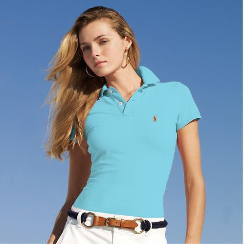 cheap polo ralph lauren shirts Women\u0026#39;s Classic-Fit Short Sleeve Polo Shirt Winter Blue http