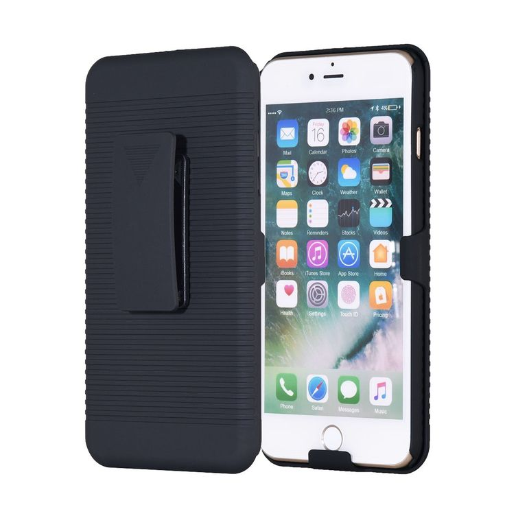 iPhone 7 Plus Belt Clip Case REENUO Belt Clip Slim Holster 2 in 1 Armor Protective Case Defender Cover with Swivel Locking Kickstand for Apple iPhone 7 Plus (Black). 1.100% MONEY BACK GUARANTEE - If For Whatever Reason You Don't Absolutely Love Your Sport Armband, Just Return It And We Will Refund Every Penny Or Replace It, No Questions Asked. 2.UNIQUE MULTIFUNCTION DESIGN: The phone Cover on Hard Shell Case Combo is able to rotate 180 degrees. Besides, you can take it down and then use…