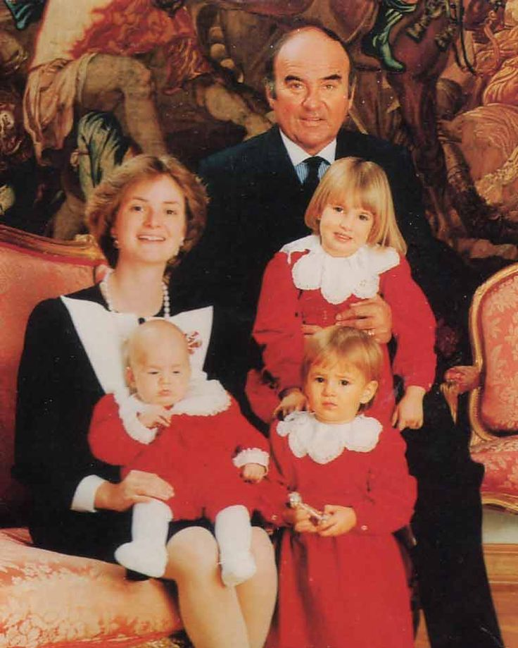 The family in I984. After paying heavy death duties, that came at an unexpected moment Princess Gloria organised the family fortune in a different way.