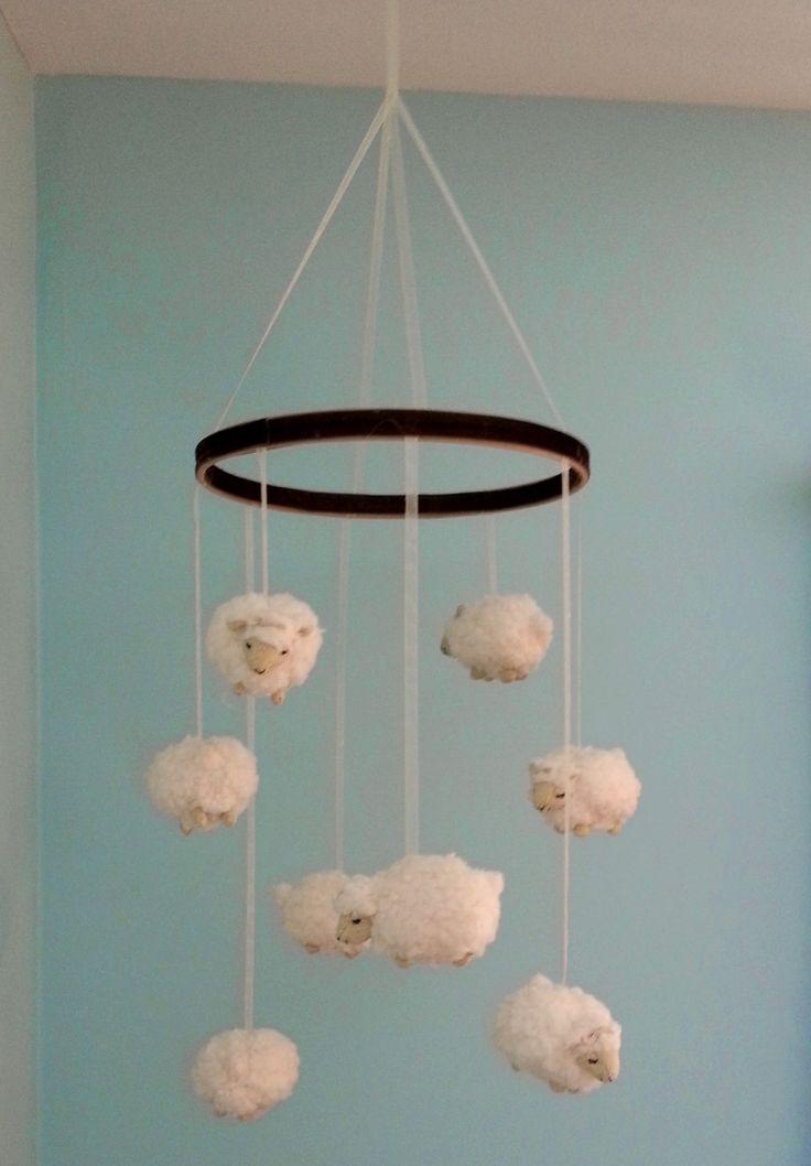 Happy Medley: Little Lamb Nursery Mobile (DIY)