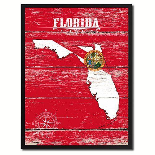 Florida Flag State Modern Style Home Office Interior Wall Décor Souvenir Gift Ideas Design Handcrafted Artisan Primitive Plaque Cottage Chic Art AllChalkboard http://www.amazon.com/dp/B00X8JXF4S/ref=cm_sw_r_pi_dp_YoCJvb02HY66G