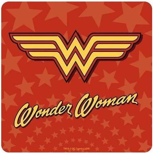 Wonder Woman Logo Coaster by Half Moon Bay