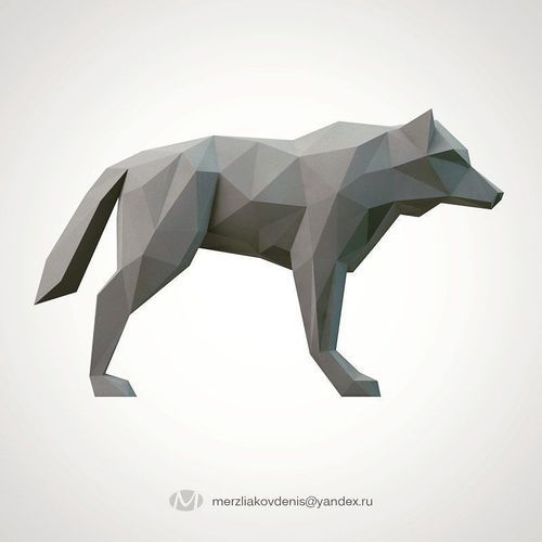 lowpoly wolf | 3D Print Model