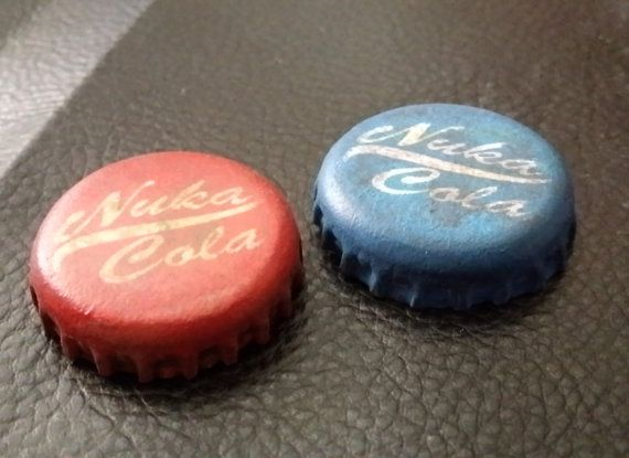 Fallout Blue Nuka Cola Caps Distressed Fallout Cosplay Prop &