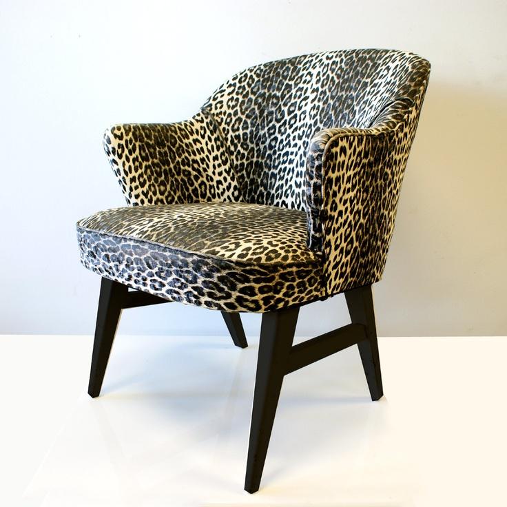 1950s Leopard Lounge Chair. $225.00, Via Etsy.