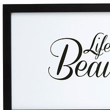 Life Is Beautiful 30 x 60cm Wall Print