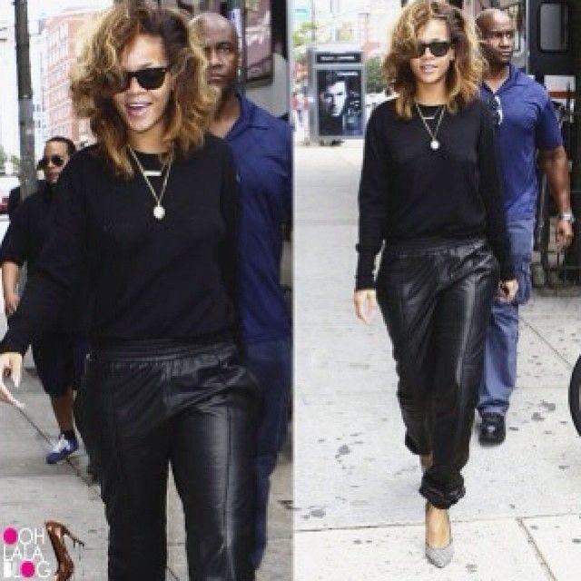 #leather #sweatpants #black #rhianna #celebstyle GET IT AT WWW.SHOPPUBLIK.COM #publik #shoppublik #chic #cute #hot #trendy #style #sexy #fashionista #fashionfeen #fashiontrends #fashionstyle #fashionforward #fallfashion #outfitinspiration #streetstyle