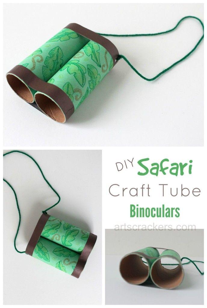 Safari Binoculars Craft Tutorial // manualidad de binoculares con rollos de papel higiénico