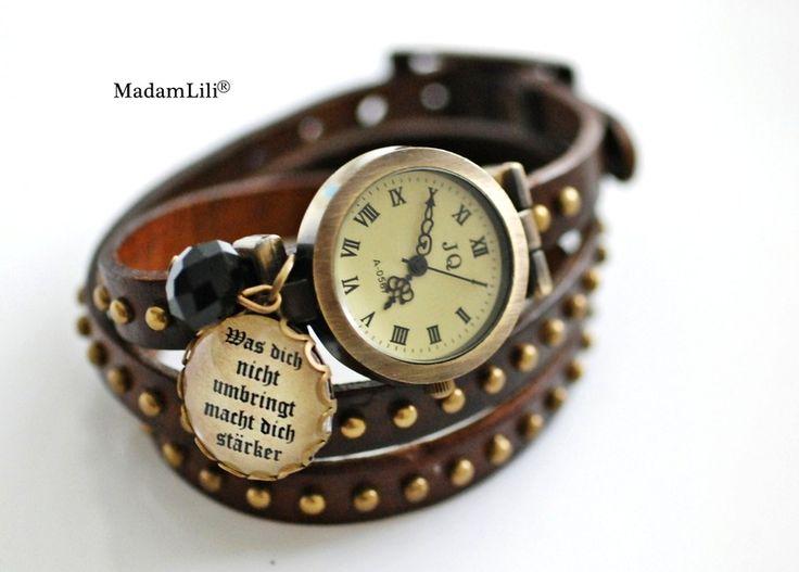 Co Cię nie zabije to Cie wzmocni... Skórzany zegarek damski #Ribell #MadameLili #zegarki #modadamska Wybierz Twój na: https://www.ribell.pl/zegarki-recznie-robione-handmade