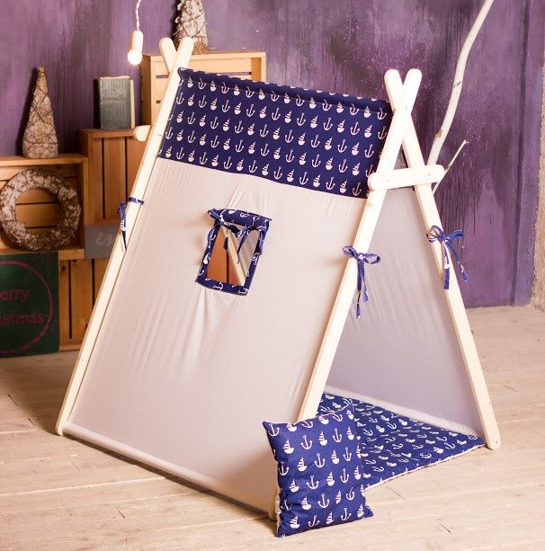 "Play tent ""Marine"", A-frame tent, kids tent. by ArtStudioBrusok on Etsy"