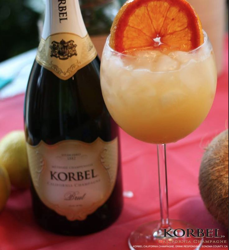 A sparkling citrus cocktail perfect for poolside summer brunch! Tangerine Screwdriver: Shake 1oz Tangerine Vodka and 2oz Orange Juice with ice. Strain. Top with 4oz KORBEL. Serve to friends by the pool, the lake or the beach!