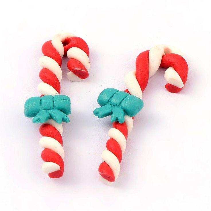 Полимерная Глина Бусины ручной работы, рождество Шоколадная Конфета с Луком, красный, 28 мм длиной, 16 мм в ширину, 5 мм толщиной, отверстие: 1 мм купить на AliExpress