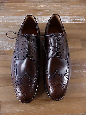 auth MORESCHI brown wingtips leather shoes -Size 7 US / 6 UK / 40 EU -New in Box