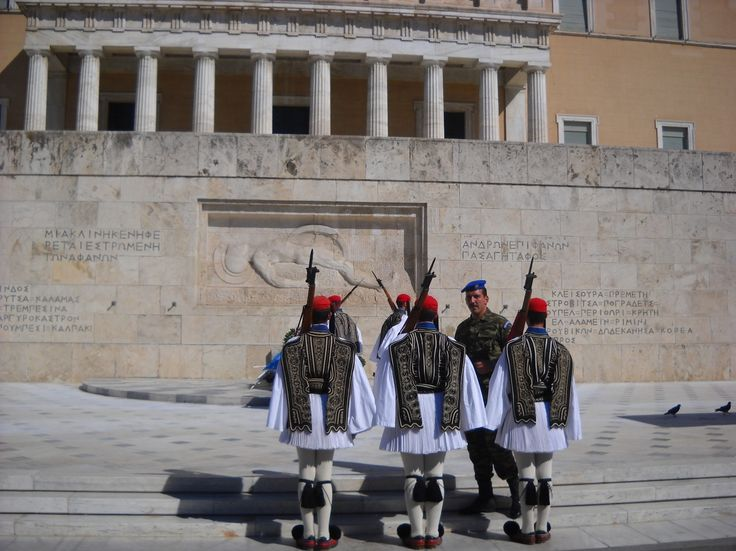 Příslušníci národní gardy u Parlamentu - Athény - Řecko