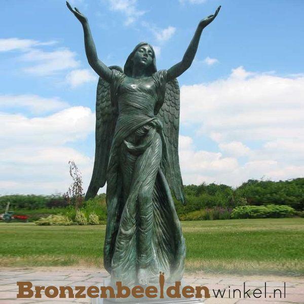 Bronzen Engelen Beelden.Tuinbeeld Engel Brons Bbw0094br Tuinbeelden Bronzen Brons