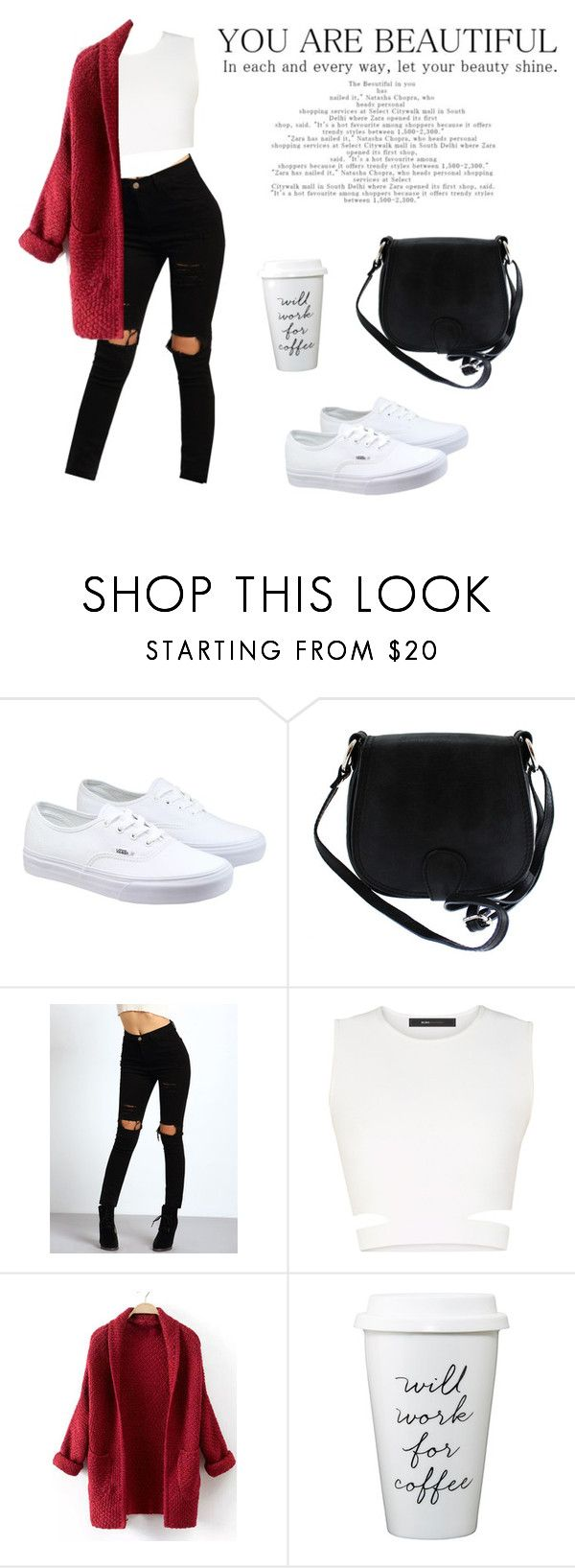 """Coffee"" by bestoshi ❤ liked on Polyvore featuring Vans, Viola Castellani and BCBGMAXAZRIA"