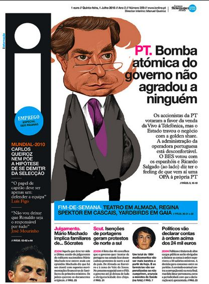 Page from Portugal's i Newspaper.