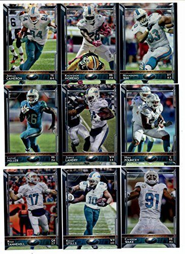 2015 Topps NFL Football Miami Dolphins Team Set: 15 Cards-Jordan Cameron, Knowshon Moreno, Ndamukong Suh, Mike Pouncey, Jarvis Landry,…