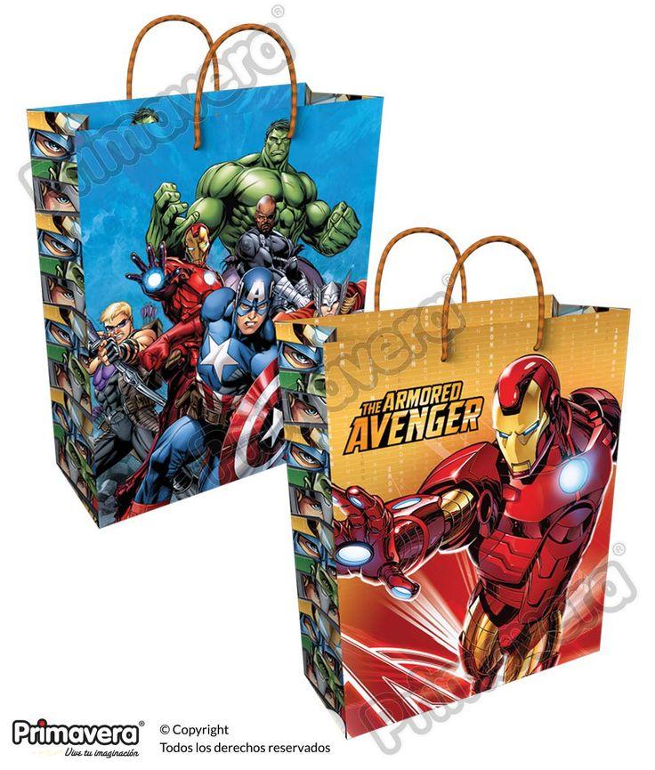 Bolsa Regalo Avengers http://envoltura.papelesprimavera.com/product/bolsa-regalo-personajes-avengers/