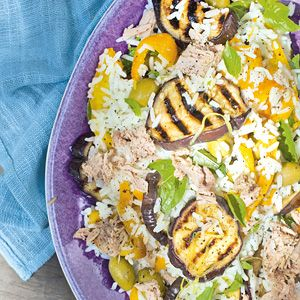 Ricesalad with tuna and olives - Dutch recipe