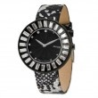 Moog Black Plated Crystal Black Dial Watch w/(ME-C) Silver/Black Metallic Band SalmaWatches.com $232.00