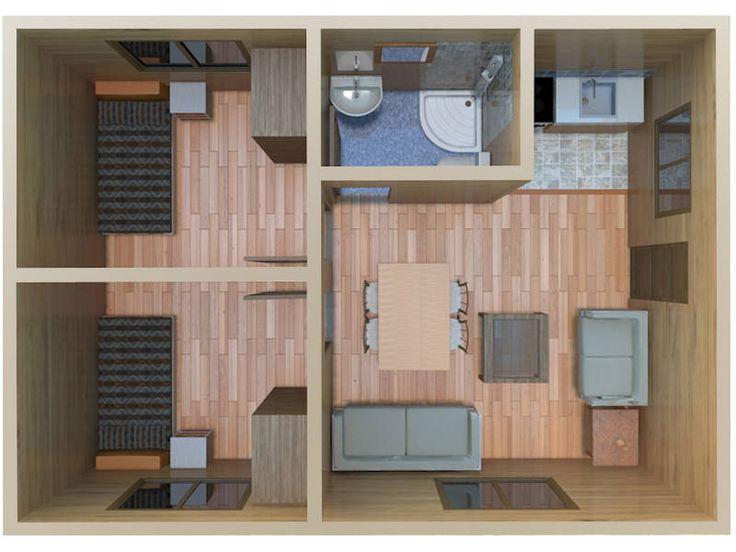 Vista 3d modelo cadiz casas de madera peque as pinterest - Casas de madera cadiz ...