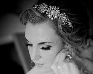 Wedding Hair Bands - Stylish Vintage Style Rhinestone Headband With Pearls, Evita