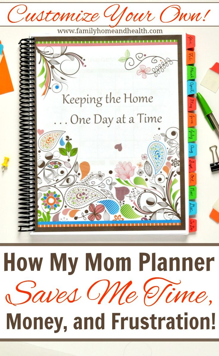 Printable Planner for Moms-Getting organized has saved me time and money!