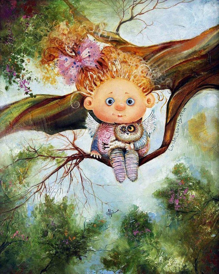 Вечерние открытки, картинки с ангелами смешные