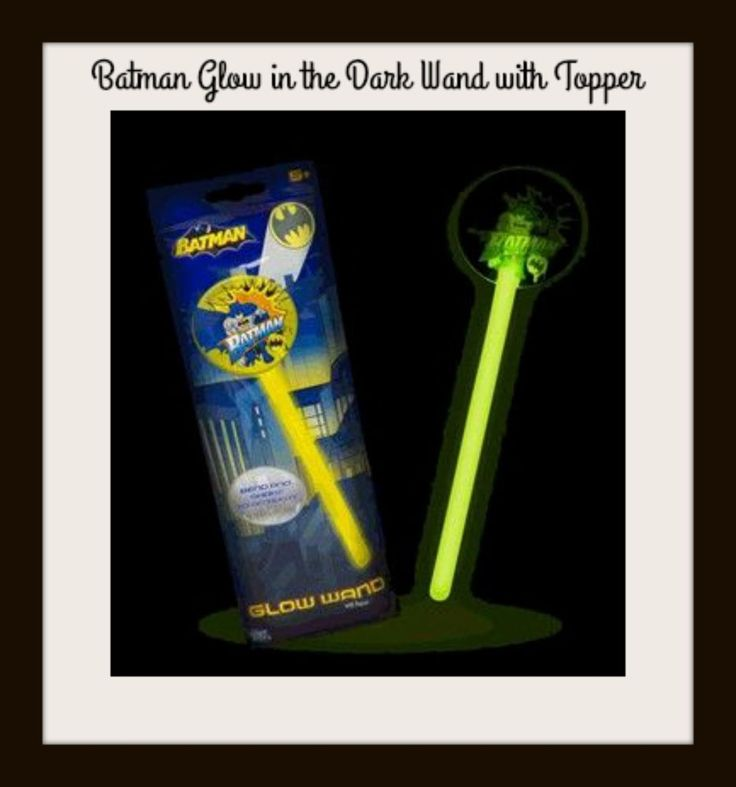 BATMAN WAND Glow in the Dark with Topper - Super Hero Kids Party Gift NEW