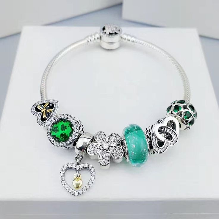 how to put charms on a pandora bangle bracelet