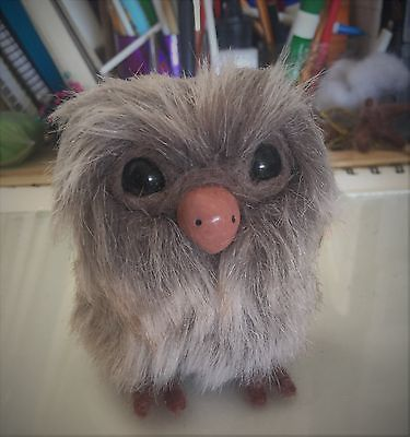 Mini Little Brown Owl Art Doll