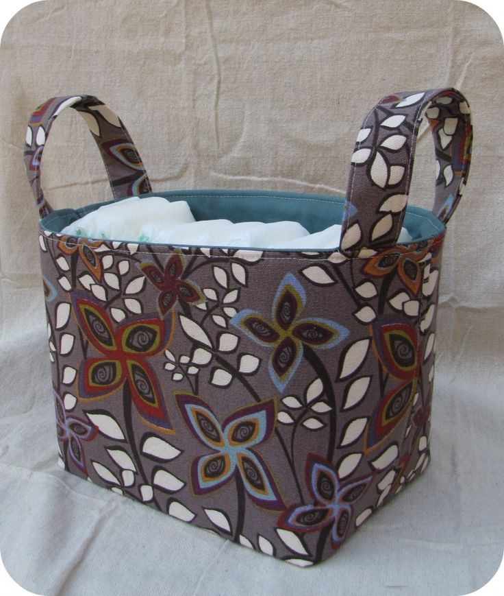 Homemade Fabric Bin