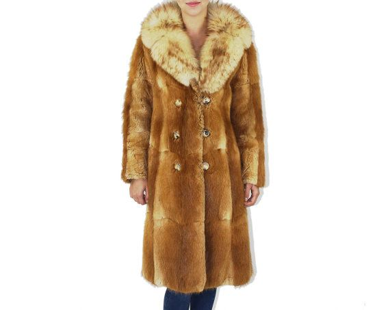 Cherry Fur Coat - Fox Muskrat #Winter #BROWN #FUR #JACKET #Couture #Coat #Outerwear #Boho #Winter #Fashion