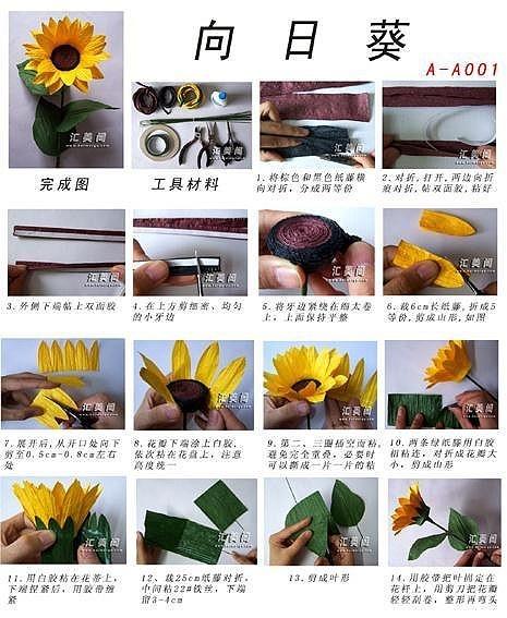 pirrka paper sunflower (tutorial)