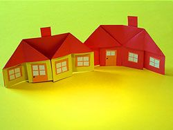 DIY origami paper house tutorial: how to fold houses