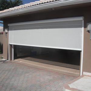 garage door screen material